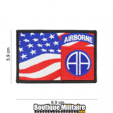Patch en tissus 82nd Airborne flag 19084
