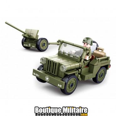 Sluban Allied jeep with Anti-Aircraft guns M38-B0853 16140