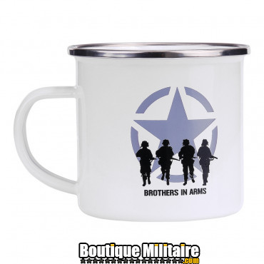 Tasse en émail Brothers in Arms